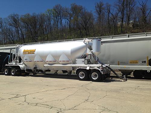 Dry Bulk Truck Blowers : Transloading rail underwood weld dry bulk trucking